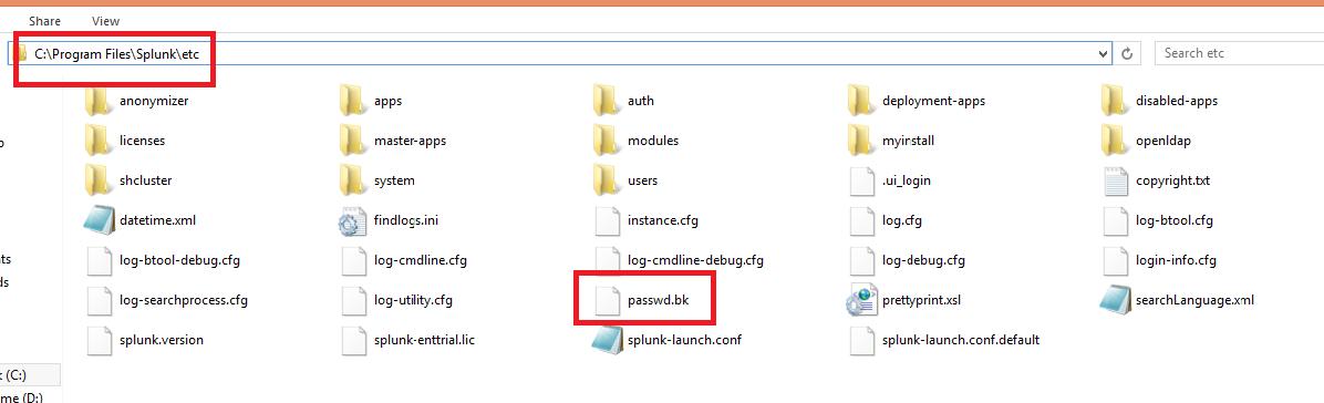 How to Reset the Forgotten Password of Admin in Splunk
